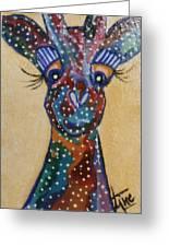 Girafe Art Greeting Card