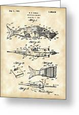 Artificial Bait Patent 1923 - Vintage Greeting Card