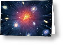 Artwork Of The Big Bang Greeting Card