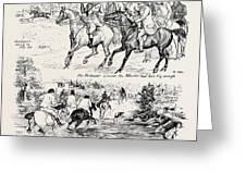 At A Deer Hunt On Exmoor Greeting Card