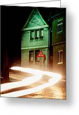 At Night In Thuringia Village Germay Greeting Card