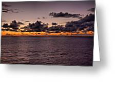 At Sea Sunset Greeting Card