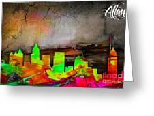 Atlanta Skyline Watercolor Greeting Card
