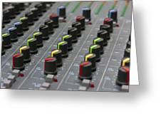 Audio Mixing Board Console Greeting Card