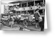 Auto Racing, 1910 Greeting Card