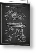 Automatic Motorcycle Stand Retractor Patent Drawing From 1940 Greeting Card by Aged Pixel