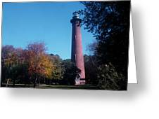 Autumn At Currituck Beach Lighthouse Greeting Card