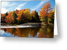 Autumn At The Lock And Dam Greeting Card