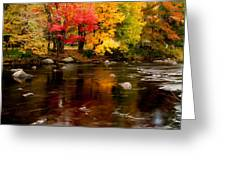 Autumn Colors Reflected Greeting Card