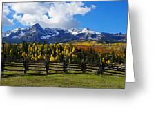 Autumn Fences Greeting Card