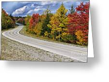 Autumn Highland Scenic Highway Greeting Card