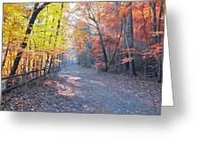 Autumn On Forbidden Drive Greeting Card