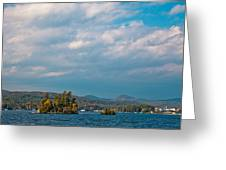 Autumn On Lake George Greeting Card