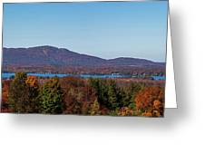Autumn Trees At Lakeshore, Brome Lake Greeting Card