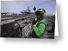 Aviation Boatswain's Mate Signals Greeting Card by Stocktrek Images