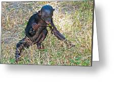 Baby Bonobo Greeting Card