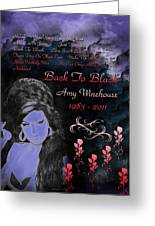 Back To Black Greeting Card