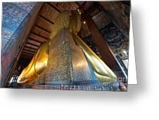 Back View Of Reclining Buddha Greeting Card