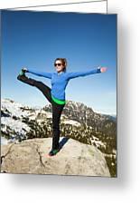 Backcountry Yoga Greeting Card