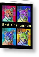 Bad Chihuahua  Greeting Card