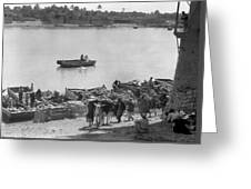 Baghdad Tigris River, 1932 Greeting Card