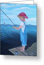 Bait Stealers Greeting Card by Glenda Barrett
