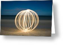 Ball Of Light Marco Island Beach Greeting Card