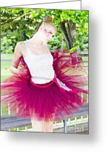 Ballerina Stretching And Warming Up Greeting Card