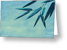 Bamboo - Blue Greeting Card