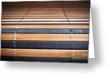 Bamboo Mat Texture Greeting Card