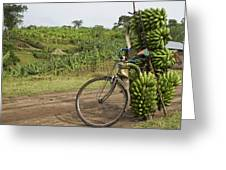 Banana Bike Greeting Card