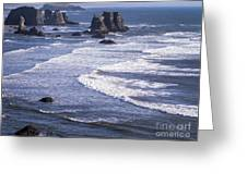 Bandon Beach Seastacks 4 Greeting Card