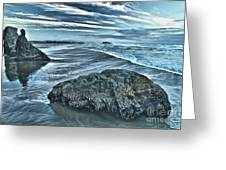 Bandon Beach Swirls Greeting Card