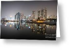 Bangkok By Night Greeting Card