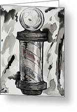 Barber Pole Greeting Card by The Styles Gallery
