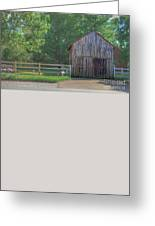 Barn By A Fence Greeting Card