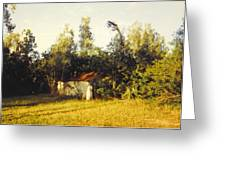 Barn Landscape Greeting Card