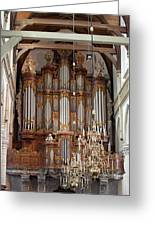 Baroque Grand Organ In Oude Kerk In Amsterdam Greeting Card