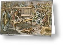 Bartolommeo Eustachio Greeting Card