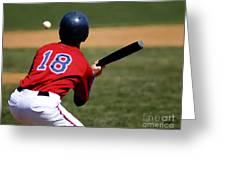 Baseball Batter Greeting Card by Lane Erickson