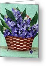 Basket Of Hyacinths  Greeting Card
