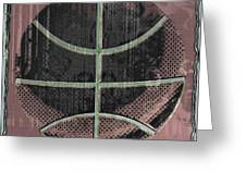 Basketball Abstract Greeting Card by David G Paul