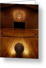 Basketball And Basketball Court Greeting Card by Lane Erickson