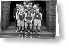 Basketball Team, 1920 Greeting Card