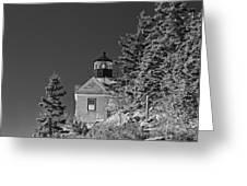 Bass Harbor Lighthouse Mount Desert Island Maine Greeting Card