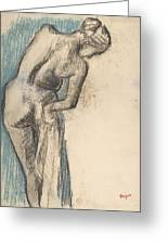 Bather Drying Herself Greeting Card