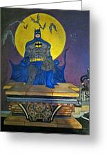 Batman On The Roof Top Greeting Card