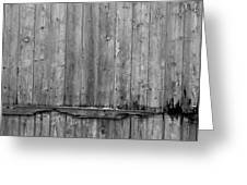 Battered Wooden Wall Greeting Card