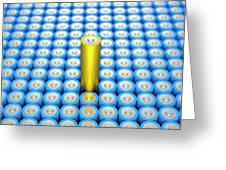 Battery Array And Single Supercapacitor. Greeting Card