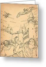 Battle At Unterwaldon Greeting Card